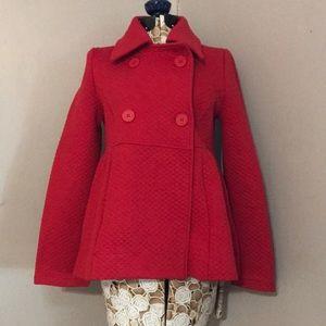 Alfred Sung Red Peplum Jacket/Coat Size Medium